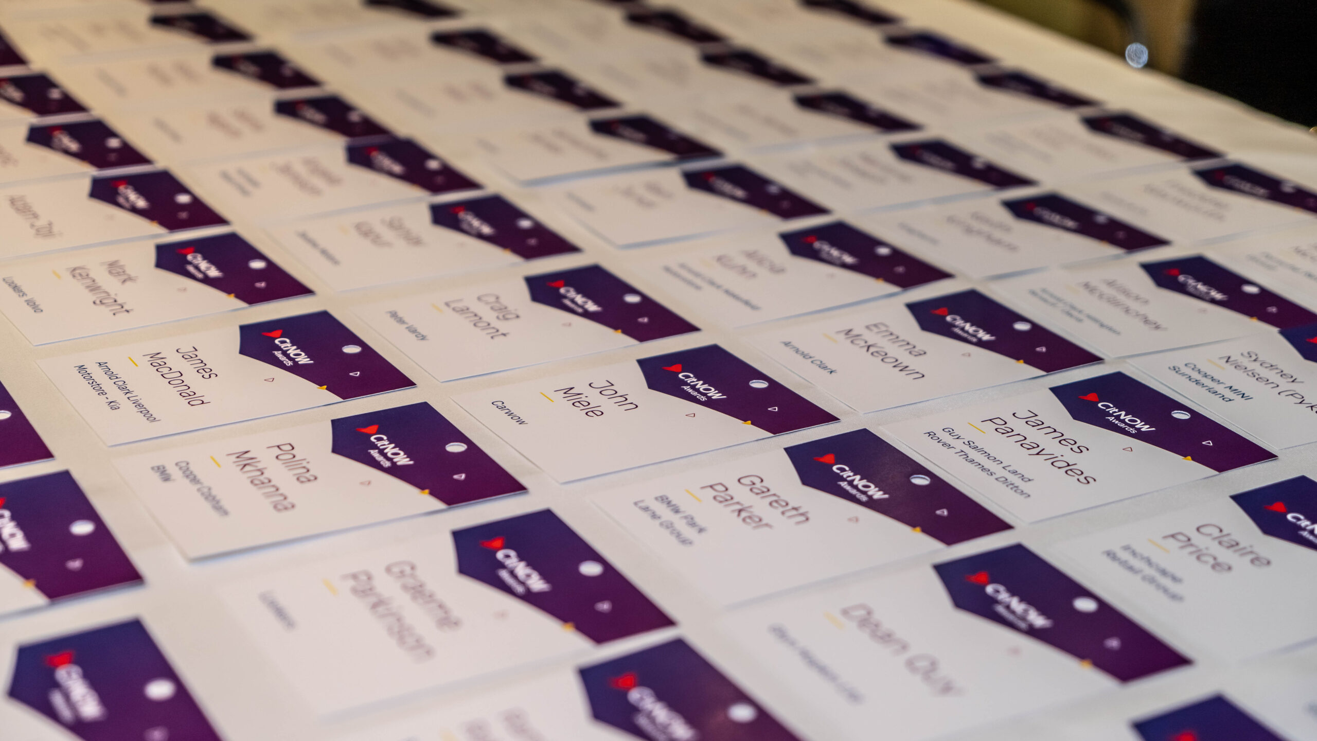 CitNOW Awards Name Tags