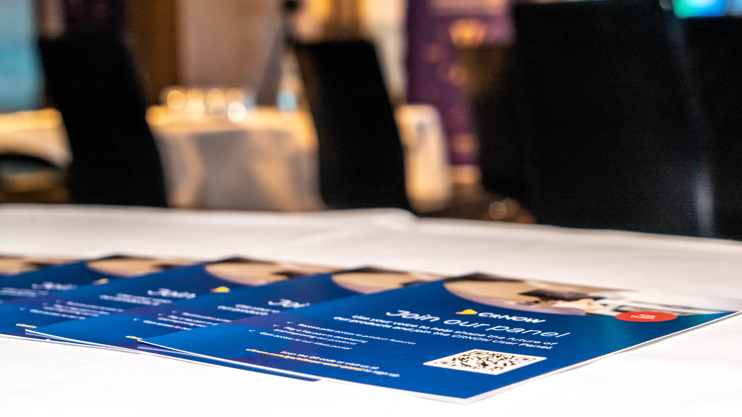 CitNOW flyers on a table
