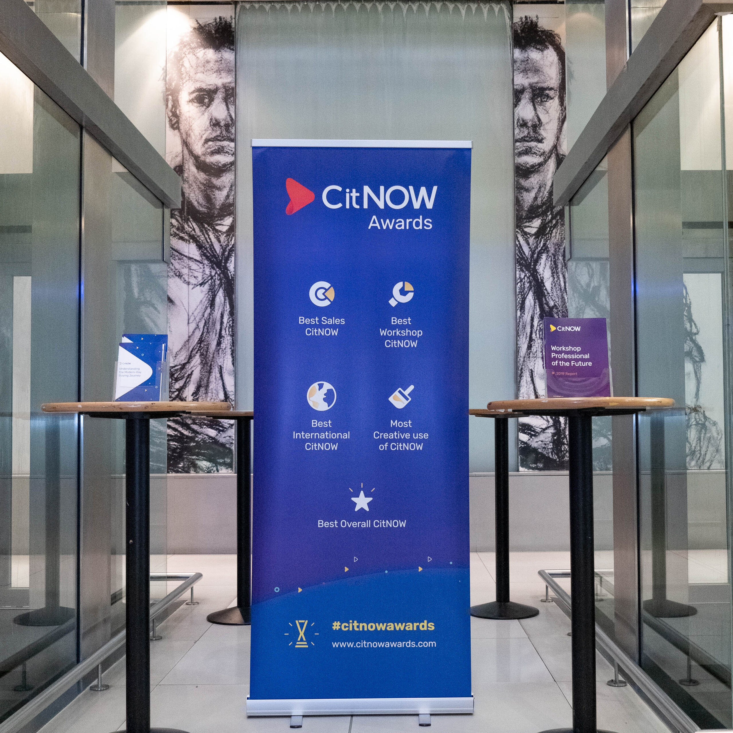 CitNOW Awards roller banner in blue