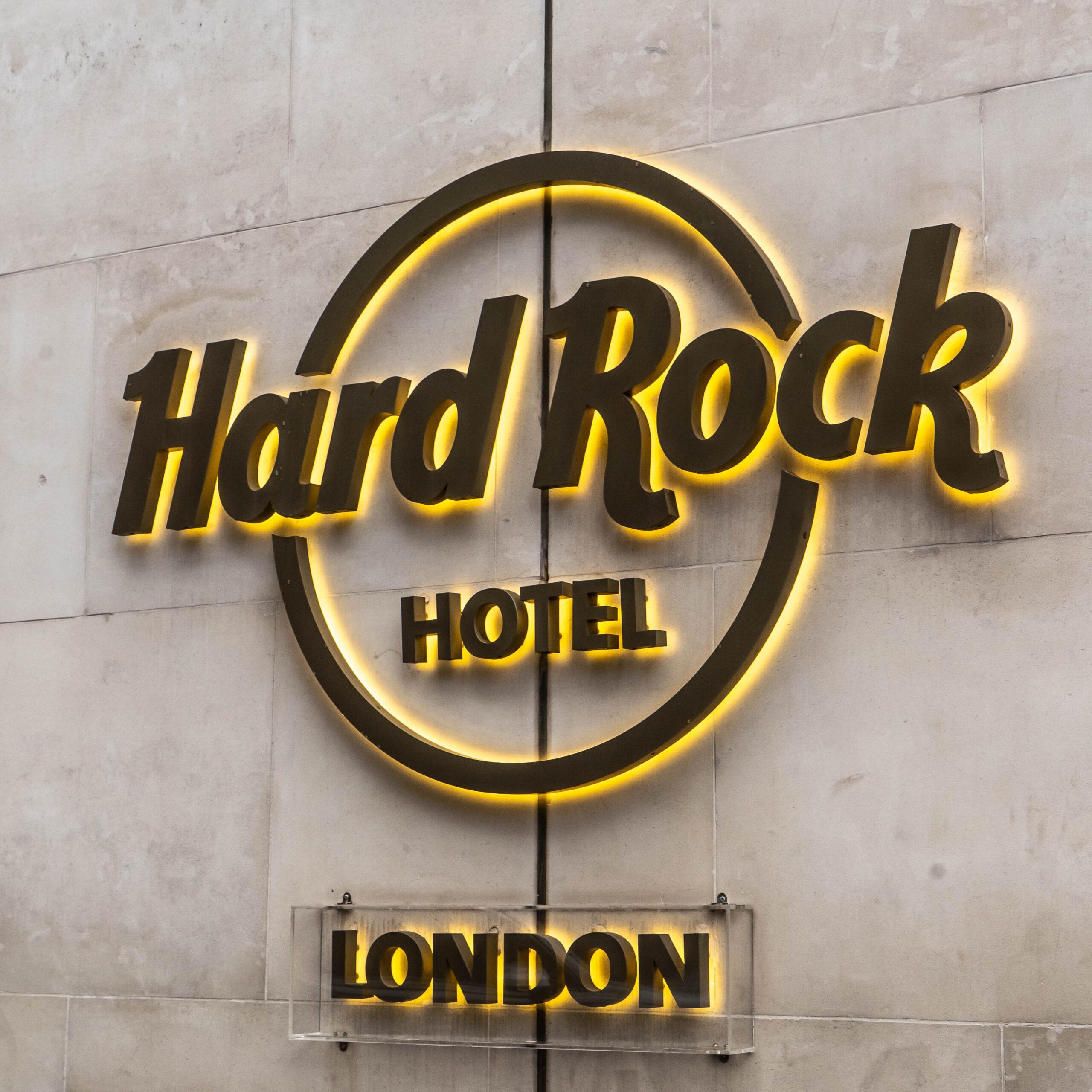 Hard Rock Hotel Sign