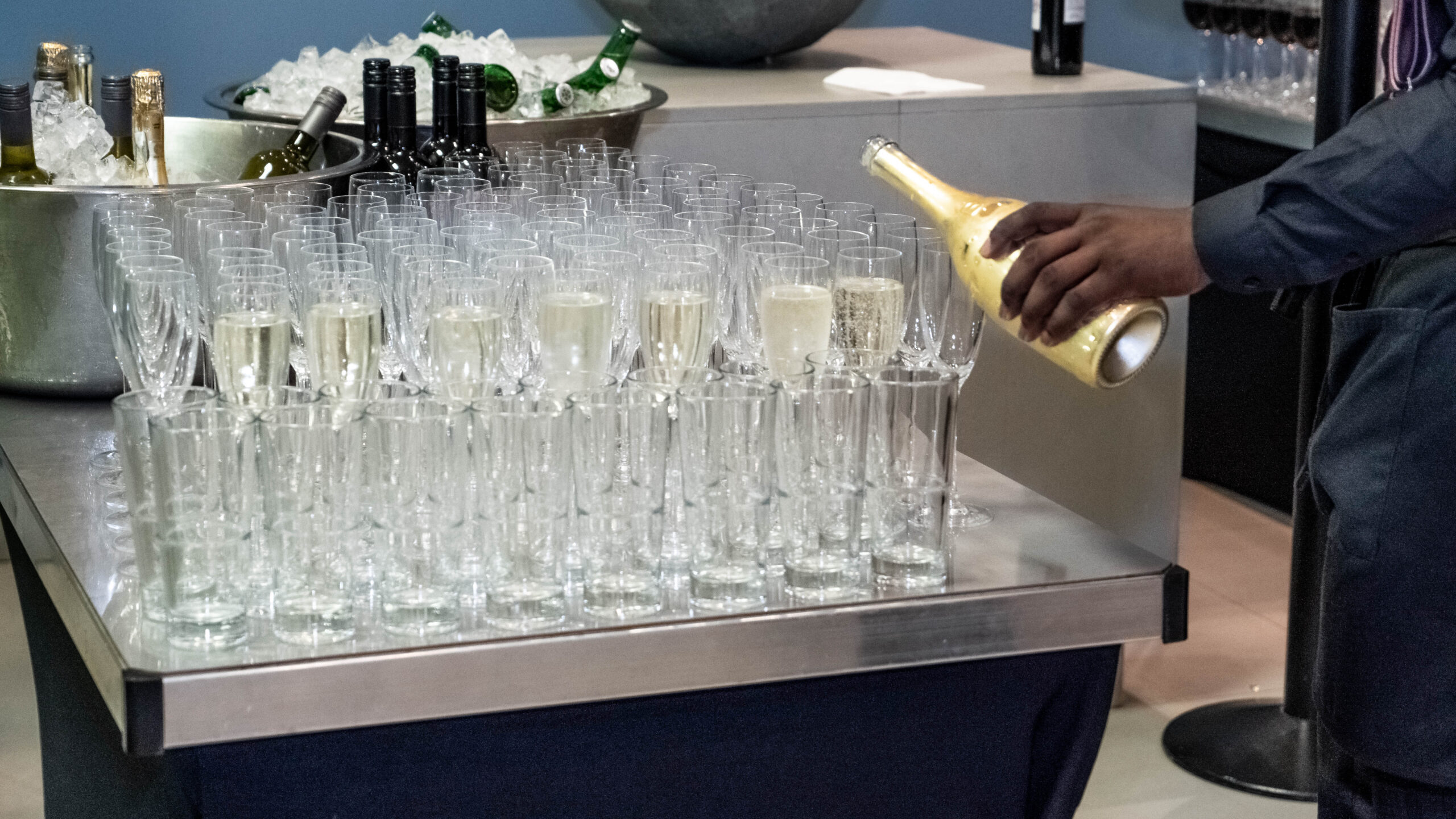 Champaign being poured