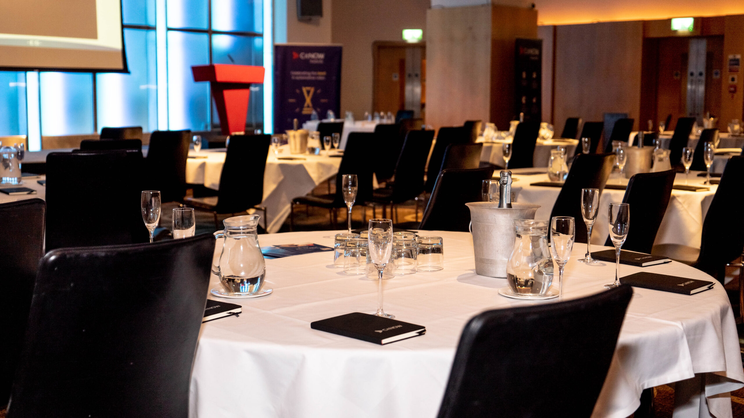 Event room before guests arrive