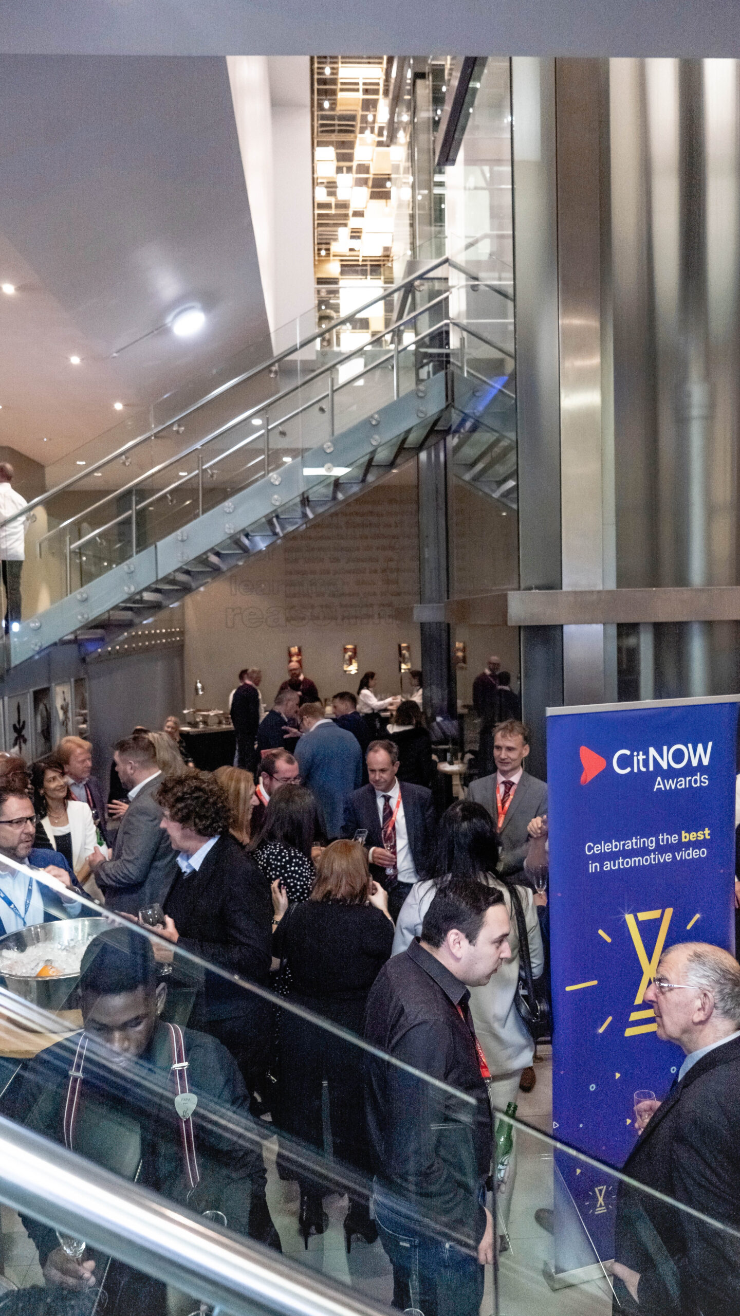 The CitNOW Awards reception room filled with people